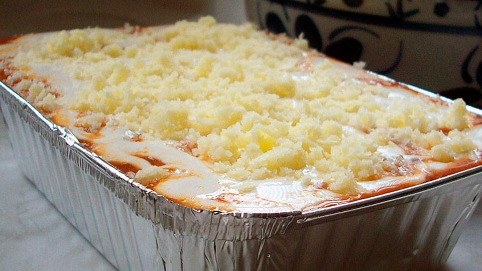 lasanha grande pres e queijo